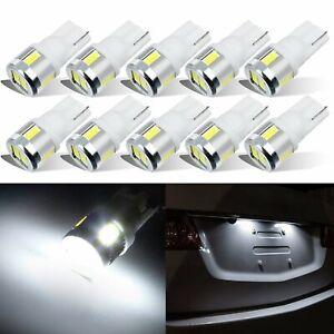 JDM ASTAR 10x T10 Wedge White 5730 6-SMD Extreme Bright LED Bulb 194 168 W5W 158