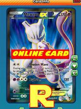 FA Mewtwo Ex - Full Art - for Pokemon TCG Online ( digital ptcgo in Game Card)