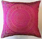 Housse de Coussin 40 x 40 cm Mandala Brocart décoratif Taie d'oreiller Indien