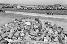 WW2 Photo WWII Captured German Equipment  Tunisia 1943 Jerry Cans    / 4151