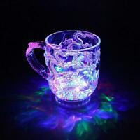 LED-Induktions-Regenbogen-Blinklicht-Whisky-Becher-Bier-Schale V5I9 Fantast O0O2