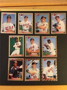 1992 Bowman Baseball Team USA Team Set 10 Cards Olympics Foil