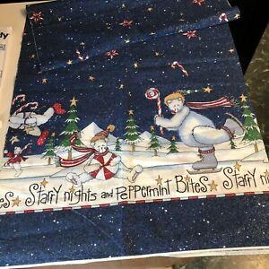 "Daisy Kingdom Starry Nights & Peppermint Bites Bordered Fabric 60""X17.5"" (#5341)"
