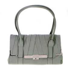 Fiorelli Vivien Aqua Faux Leather Medium Flapover Shoulder Bag (Grey Green)