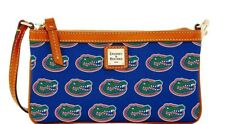 Dooney & Bourke Florida Gators Womens Wristlet Royal Blue Leather Trim