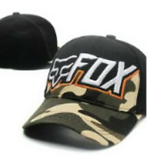 Embroidered Black and Camo Baseball Cap Flexfit: One Size