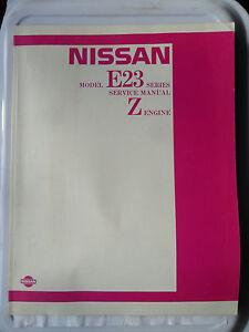 NISSAN URVAN CARAVAN KING VAN HOMY E23 WORKSHOP SERVICE MANUAL FACTORY Z18 Z20