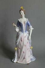 Hollohaza Ungarn Porzellan Figur galante Dame mit Spiegel H.= ca. 27 cm