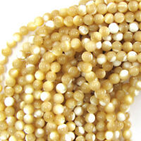 """Natural Mother of Pearl MOP Round Beads 15.5"""" 3mm 4mm 5mm 6mm 7mm 8mm 9mm 10mm"""
