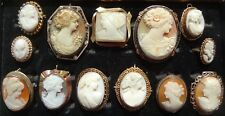 Pins & Ring Collection 13 piece Cameo Brooches, Pendants,