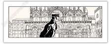 Sérigraphie PRATT Corto à Venise Fable de Venise 500ex 20x50 cm