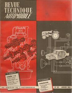 REVUE TECHNIQUE AUTOMOBILE 201 RTA 1963 CITROEN T23 ESSENCE TYPE H CITROEN 2CV