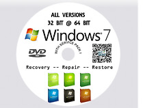 WINDOWS 7  PRO Recovery Install Reinstall Boot Restore DVD Disc + HDD 80GB GOOD