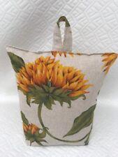 Handmade Doorstop - Sunflowers Fabric  - FILLED - New - Doorstopper