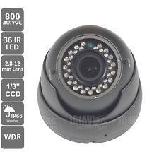 "Outdoor 800TVL Dome Camera 2.8-12mm 1/3"" Sony CCD WDR 36pcs 100ft IR CCTV OSD"