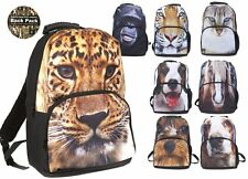 2D Animals Dog Cat Monkey Leopard Animal Print School Student Back Pack