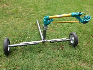 """DuCaR JET50 - Gear Drive Sprinkler with 2"""" wheeled cart (extendable legs) + QC"""