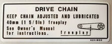 HONDA XRV750 AFRICA TWIN DRIVE CHAIN CAUTION WARNING DECAL