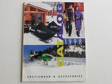 Arctic Cat 1998 snowmobile parts & accessories catalog Arcticwear Zr Thundercat