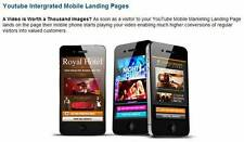 YouTube Integrated Optimized Mobile Marketing Landing Webpage $37 FIRE SALE!!