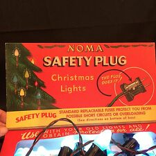 Vintage NOMA Christmas Lights Safety Plug String 15 C7 Bulbs Noma String Box
