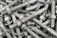 (10) Galvanized Concrete Wedge Anchor Bolts 5/8 x 6 Includes Nuts & Washers