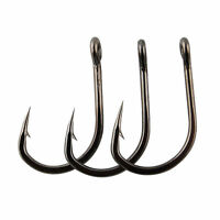 50pcs Live Bait Fishing Hook Sharpened Stainless Steel Saltwater Hook 2/0-10/0