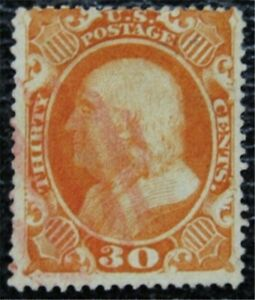nystamps US Stamp # 38 Red Cancel $475   L23x122