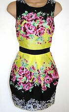 SIZE 14 16 FLORAL SUMMER DRESS TULIP SKIRT COCKTAIL WEDDINGS PARTY- US 10 EU 44