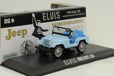 1963 jeep cj5 elvis presley azul 1:43 GreenLight
