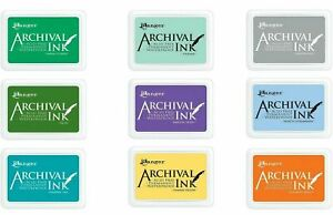 Ranger Archival Ink Stamp Pad Acid Free Permanent 97mm x 70mm Choose Colours