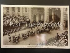 c1911 KIng George V  Coronation Procession,Their Majesties Passing New Admiralty