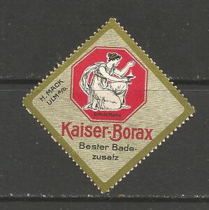 Germany/Ulm KAISER BORAX advertising stamp/label (C)