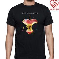 New Pet Shop Boys Poster Logo Men's Black T-Shirt Size S-3XL