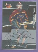 Dominic Rhodes 2001-02 BAP Be A Player Autograph Signed #53 Carolina Hurricanes