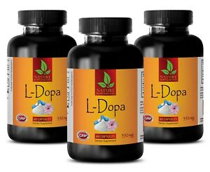 L-dopa 99% - L-DOPA Extract Powder 350 - Reproductive System Booster - 180 Pills