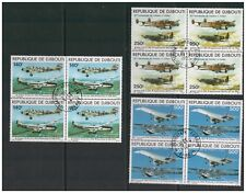 REPUBLIQUE DE DJIBOUTI 1979 AIR 75TH ANN POWERED FLIGHT BLOCKS 4 VERY FINE USED