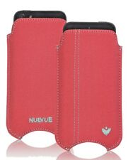 For Apple iPhone 4 Canvas Coral Pink NueVue Screen Cleaning Pouch Sleeve Case