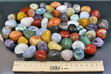 3 KG TROMMELSTEINE-Edelsteine+Mineralien+I+NATUR+BUNT+M-L (GP: 1 kg = 8,00 €)