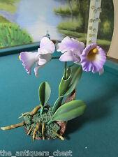 Andrea By Sadek purple orchids, 8 x 7 Nib
