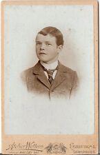 CDV Foto Feiner Junge - Harburg 1890er