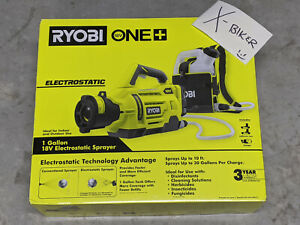 RYOBI ONE+ 18V CORDLESS ELECTROSTATIC 1 GAL SPRAYER + 2 BATTERIES + CHARGER!
