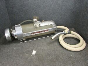VINTAGE ELECTROLUX METAL CANISTER SLED VACUUM W/ HOSE & BRUSH ATTACHMENT