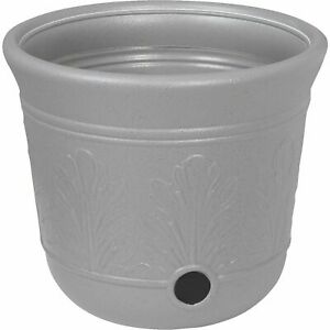Suncast 300 Foot Heavy Duty 5 Gallon Decorative Expandable Garden Hose Pot, Gray