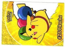 POKEMON English TOPPS CARD #25 PC1 FLYING PIKACHU TRANSPARENT CARD 1999