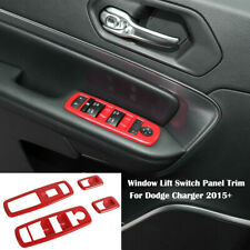 For Dodge Charger 2015+ Window Lift  Switch Panel Trim Cover Accessories Decor