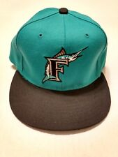 FLORIDA MARLINS VINTAGE 90s NEW ERA 59FIFTY MLB BASEBALL FITTED HAT 7 3/8