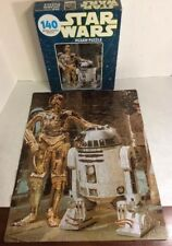 Vintage Kenner Star Wars R2D2 and C3PO 140 Piece Jigsaw Puzzle 1977 Blue Box