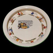 Antique Morley Fox Child's 10 Victorian Nursery Rhymes Ware Dish Punch & Judy