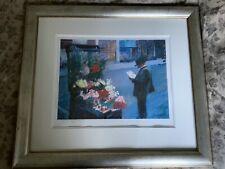Rolf Harris Flower Seller At Elephant And Castle RARE Framed Ltd Ed Print